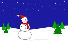 De scène van de sneeuwman Royalty-vrije Stock Afbeeldingen