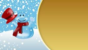 De Scène van de Sneeuwman van de winter Royalty-vrije Stock Afbeeldingen