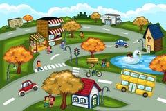 De scène van de stad stock illustratie