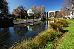 De Scène van de Stad van Christchurch stock fotografie