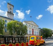 De scène van de Stad van Lviv (de Oekraïne). 10 MEI, 2012 Stock Afbeelding