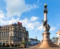 De scène van de Stad van Lviv (de Oekraïne). 10 MEI, 2012 Royalty-vrije Stock Fotografie