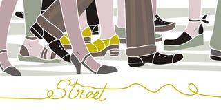 De scène van de straat vector illustratie