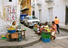 De Scène van de straat in Cartagena, Colombia royalty-vrije stock afbeelding