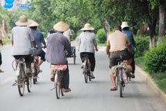 De scène van de straat in China Stock Foto's
