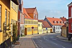 De scène van de straat in Denemarken Royalty-vrije Stock Fotografie