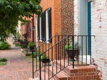 De scène van de straat in Frederick Maryland Stock Fotografie
