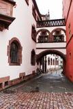 De scène van de straat in Freiburg-im-Breisgau Duitsland Stock Foto
