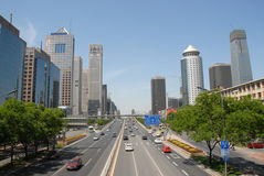 De scène van de straat in Peking Royalty-vrije Stock Foto's