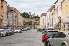 De scène van de straat in Regensburg (Duitsland) Stock Foto's