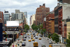De Scène van de Straat van de Stad van New York Stock Foto