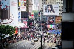 De Scène van de Straat van Hongkong Stock Afbeelding