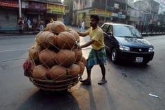 De scène van de straat van Kolkata royalty-vrije stock afbeeldingen