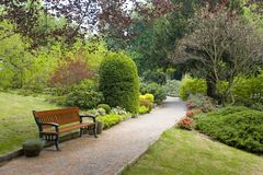 De scène van de tuin royalty-vrije stock afbeelding