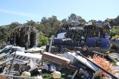 De Scène van de vliegtuigneerstorting Stock Foto's