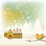 De Scène van de winter vector illustratie