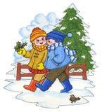 De Scène van de winter royalty-vrije illustratie