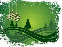 De scène van de winter - Kerstmiskaart Stock Fotografie