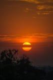 De scène van de zonsondergang Stock Foto's
