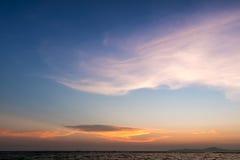 De scène van de zonsondergang Stock Foto