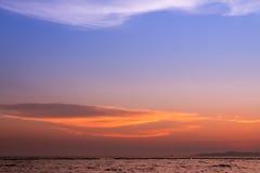 De scène van de zonsondergang Stock Afbeeldingen