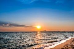 De scène van de zonsondergang Royalty-vrije Stock Foto