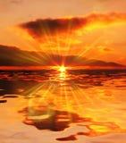 De scène van de zonsondergang royalty-vrije stock foto's
