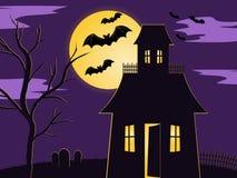 De scène van Halloween Stock Afbeeldingen