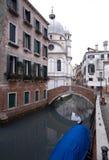 De Scène van het kanaal, Venetië, Italië Stock Foto