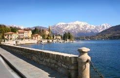 De scène van het meer, Como, Italië Royalty-vrije Stock Foto's