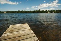De Scène van het meer op de Dag van de Zomer royalty-vrije stock afbeeldingen