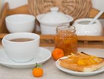 De scène van het ontbijt Stock Foto's
