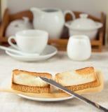 De scène van het ontbijt Stock Foto