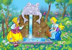 De scène van het sprookje Stock Afbeelding