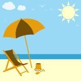 De Scène van het strand royalty-vrije illustratie