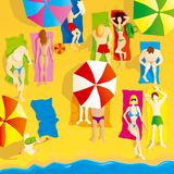 De scène van het strand Stock Afbeeldingen