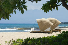 De Scène van het Strand van Hawaï royalty-vrije stock afbeelding