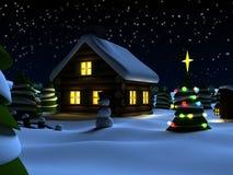 De scène van Kerstmis vector illustratie