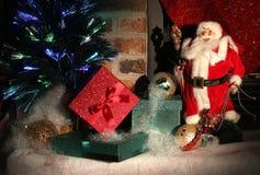 De scène van Kerstmis De kaart van de groet Stock Afbeeldingen