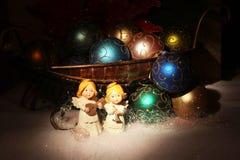 De scène van Kerstmis De kaart van de groet Stock Foto