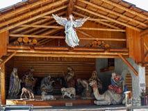 De scène van de Kerstmisgeboorte van christus in Canazei Italië Royalty-vrije Stock Foto