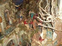 De scène van de Kerstmisgeboorte van christus in het stadscentrum van Sorrento1 Stock Afbeelding