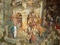 De scène van de Kerstmisgeboorte van christus in het stadscentrum van Sorrento2 Stock Afbeeldingen