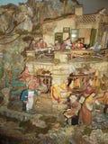 De scène van de Kerstmisgeboorte van christus in het stadscentrum van Sorrento4 Stock Fotografie
