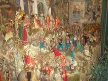 De scène van de Kerstmisgeboorte van christus in het stadscentrum van Sorrento4 Stock Afbeeldingen