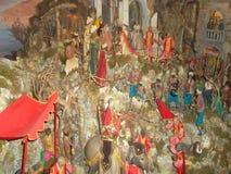 De scène van de Kerstmisgeboorte van christus in het stadscentrum van Sorrento4 Stock Afbeelding