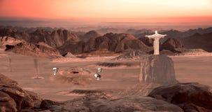 De scène van Mars royalty-vrije illustratie