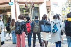 De scène van Shibuyatokyo Japan op 30,2017 Maart | De reiscityscape van Azië | Beroemde metropolitaans Stock Afbeelding