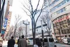 De scène van Shibuyatokyo Japan op 30,2017 Maart | De reiscityscape van Azië | Beroemde metropolitaans Royalty-vrije Stock Afbeelding