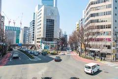 De scène van Shibuyatokyo Japan op 30,2017 Maart | De reiscityscape van Azië | Beroemde metropolitaans Royalty-vrije Stock Fotografie